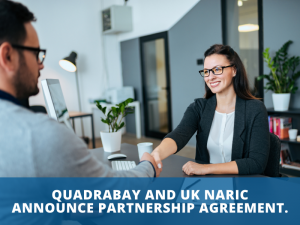 QuadraBay and UK NARIC announce partnership agreement.