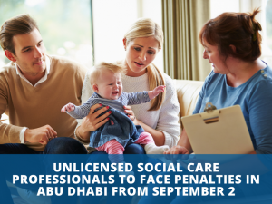 "The Department of Community Development (DCD) in Abu Dhabi recently released a statement that urged all Social Care Professionals to submit their applications to obtain their professional license before the September 2nd deadline in order to validate their work status. Those who have not done so, will automatically be penalized. The DCD is responsible for regulating the social sector and reminds all working Social Care Professionals to ""expedite the submission of their applications and legalize their working status now. The licensing process includes different stages that may take three months or more to complete, depending on the requirements to be fulfilled based on the type of social care activities they practice. This move will ensure that only licensed social care professionals are providing services to the Abu Dhabi community based on the highest global quality standards,"" said Mubarak Al Ameri, acting executive director of licensing and social control at the DCD. According to their website, the licensing requirements applies to five categories of professionals: - Non- clinical Psychologists - Behavior Analysts - Psychotherapists - Social Workers - Counsellors Within these categories, there may be the need for proficiency tests, verification of submitted documents, and other requirements as mentioned in the Regulations and Procedures Manual. There will also be a clear check on whether a candidates education meets the expected criteria specified by the DCD. Al Almeri further stated that ""Allowing social care professionals to reconcile their working status is in line with the DCD's relentless efforts to improve the quality of social services in Abu Dhabi. It also ensures that all segments of society receive the best social services that meet their needs and aspirations and are offered by qualified and licensed professionals. This step is also part of its role to organize the social sector in Abu Dhabi and enforce the set policies, laws and strategies that aim to enhance the standard of living and quality of life in the emirate""."